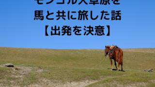 モンゴル大草原を 馬と共に旅した話 【出発を決意】
